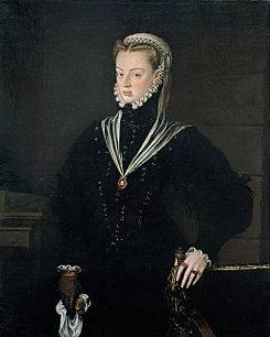 Retrato Juana de Austria de Alonso Sánchez Coello.