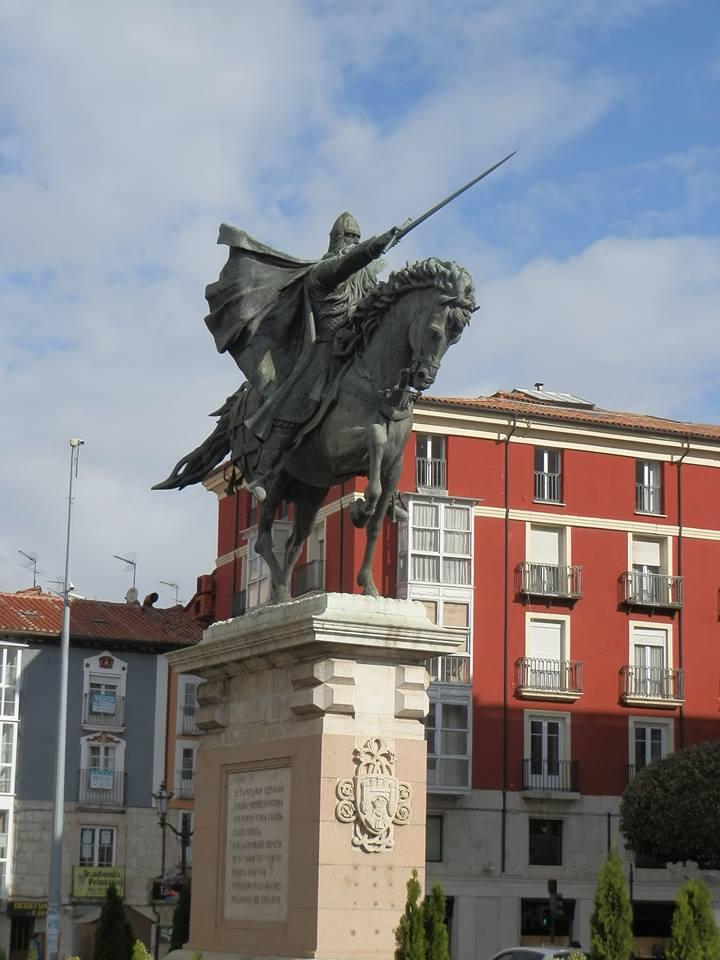 Monumento emblemático en homenaje a el Cid Campeador en el centro de la ciudad.