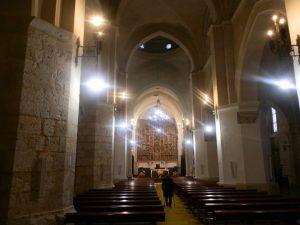 Interior del templo donde se creó las bases de la institución de orden público en Dueñas (Palencia).