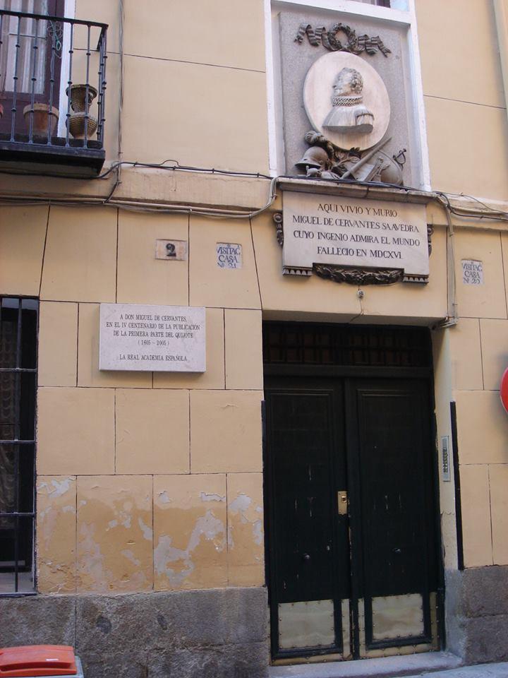 Casa donde murió el autor en Madrid.