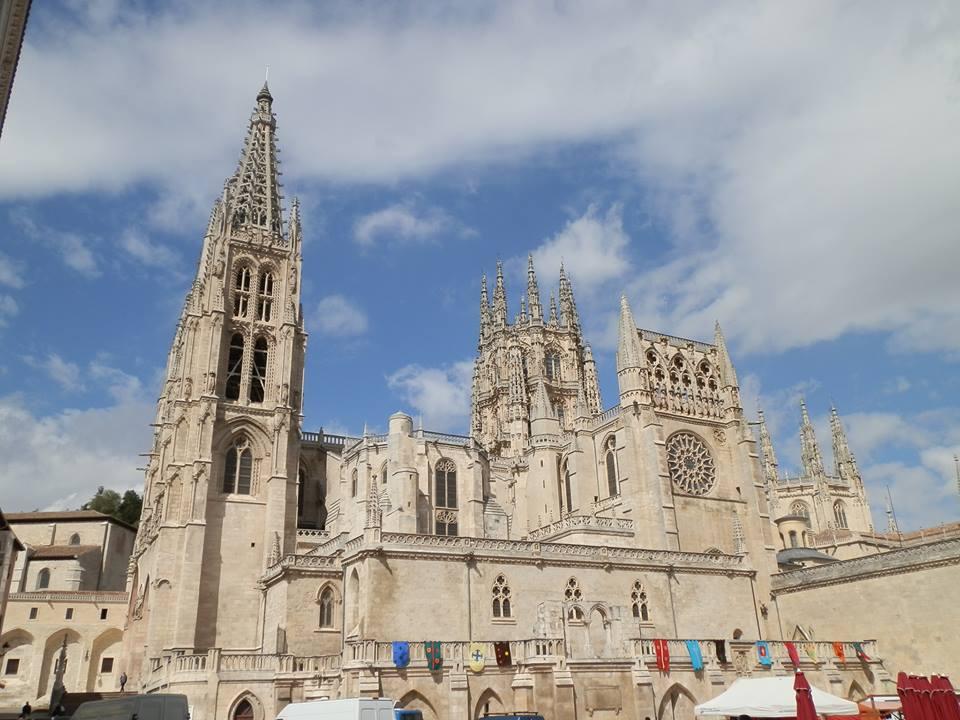 Vista de la espléndida y majestuosa Catedral de Burgos.